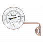 Preview: Froggit Retro Metall Thermo-Hygrometer (Kupferdesign) Außenthermometer, Luftfeuchte, Temperatur