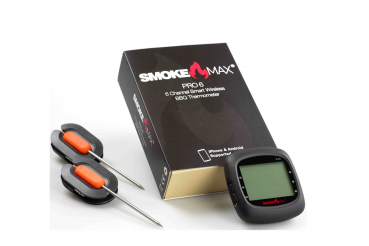 SmokeMax PRO6 - 6 Channel Smart Wireless BBQ APP Thermometer (6 Standard Fühler)