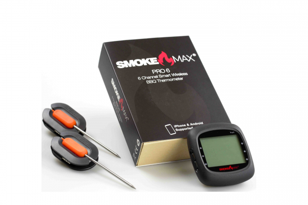 SmokeMax PRO6 - 6 Channel Wireless BBQ APP Thermometer (4 Standard- & 2 Expert Fühler)