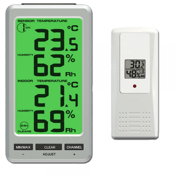 FT0303 Funk Thermometer inkl. 1 Thermo-Hygrometer Funksensor