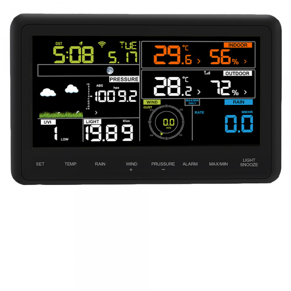 Froggit WH3000 SE PRO TRIPLE (3 Displays) WiFi Internet Funk Wetterstation App Ecowitt-Server
