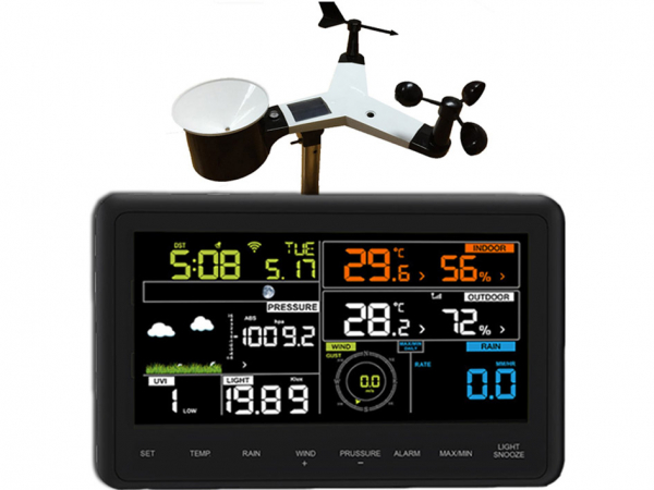 Froggit WH3000 SE (Second Edition 2018) TRIPLE (3 Displays) WiFi Internet Funk Wetterstation App-Tool